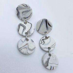 Handcrafted Dangle Marble Earrings